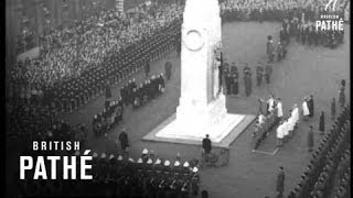 Queen Pays Homage Aka Queen At Cenotaph (1952)