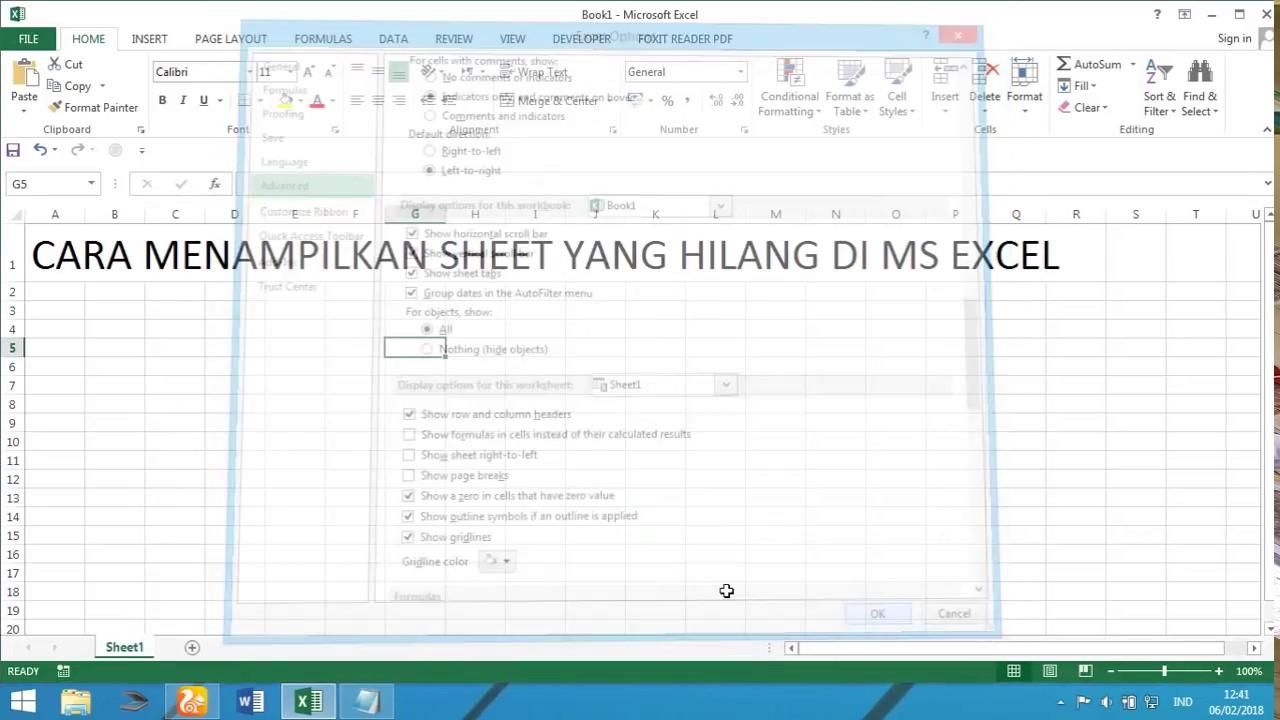Cara Menampilkan Sheet di Microsoft Office Excel