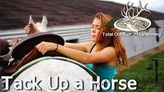 Video How to saddle and tack up a horse - Horse care tips with Chey #4 download MP3, 3GP, MP4, WEBM, AVI, FLV Januari 2018