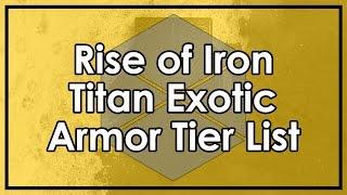 Destiny Rise of Iron: Titan Exotic Armor Tier List (Thagomizers & Dunemarchers Reviews)