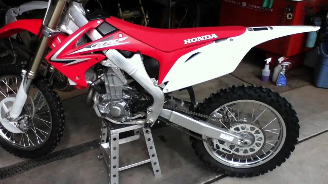 2009 Honda CRF450R Start Up - YouTube