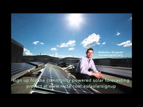 The Canberra Solar Energy Forecasting Project: Nicholas Engerer - Biodegradio Sep 2013 - Part 1 of 2