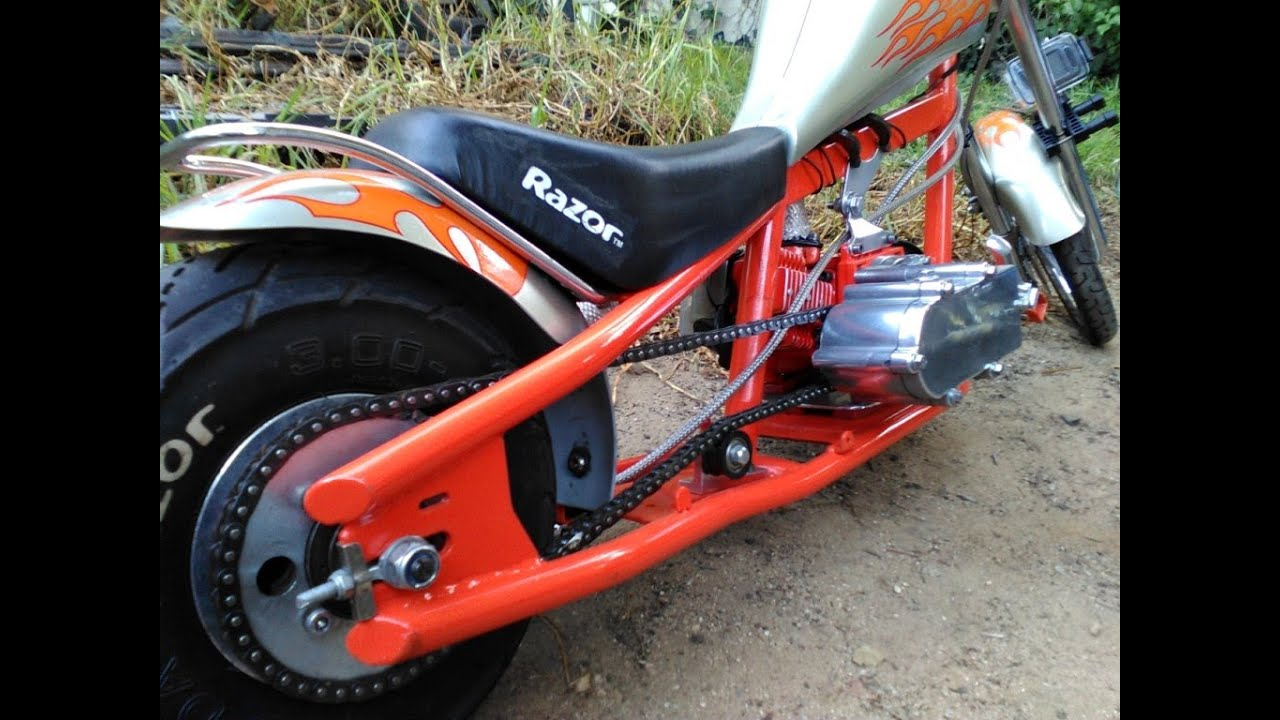 Custom Mini Chopper Pocket Bike 47cc Razor Conversion ...