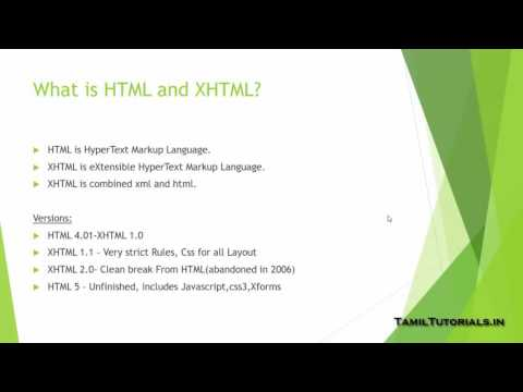 2.1.What is XHTML and HTML