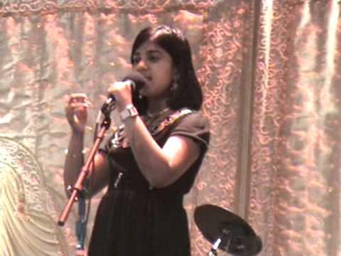 Anusha singing Mere Dholana Sun in Hindi Manch Sa Re Ga Ma Pa Competition
