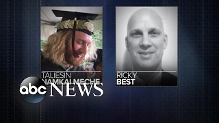 Two men called heroes after brutal stabbing attack on Oregon train