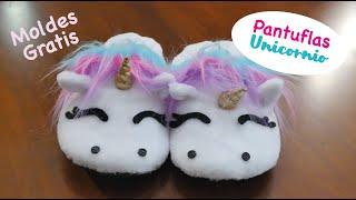 PANTUFLAS DE UNICORNIO - Tutorial DIY (Unicorn Slippers)