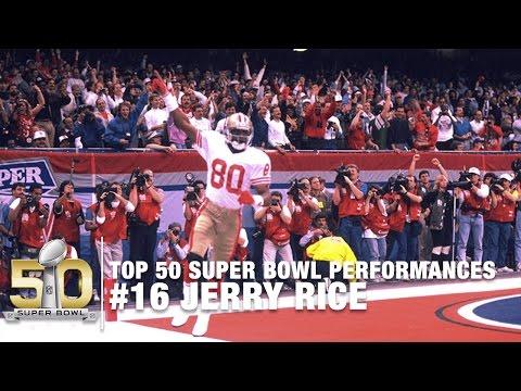 #16: Jerry Rice SB XXIV Highlights | 49ers vs. Broncos | Top 50 Super Bowl Performances