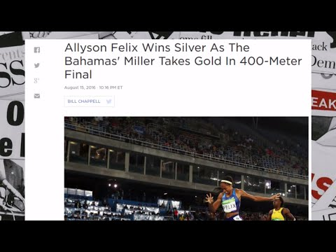 Allyson Felix Wins Silver As The Bahamas' Miller Takes Gold In 400-Meter Final