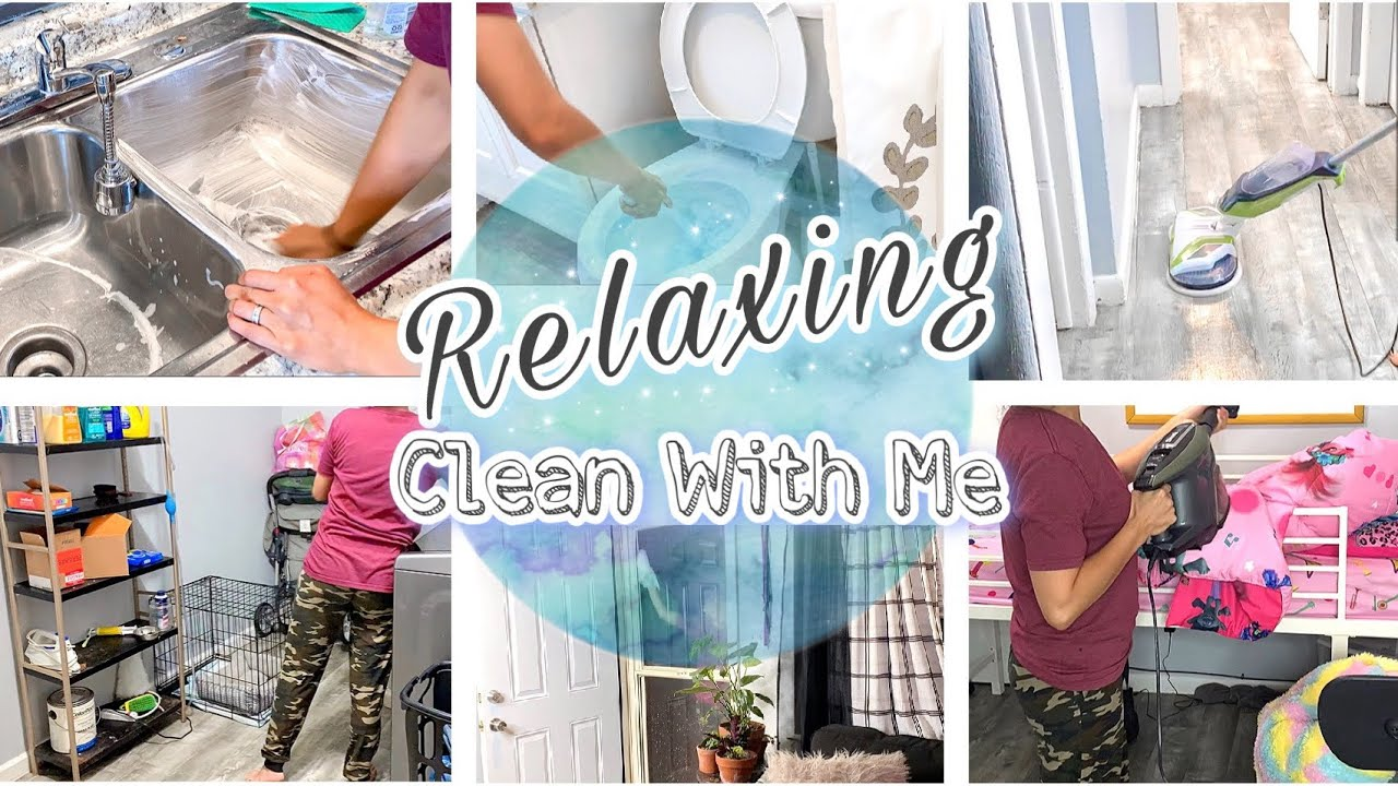 Relaxing Whole House Clean With Me 2020   NO TALKING Cleaning Up Video   Cleaning Motivation