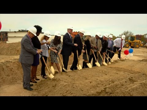 Groundbreaking Ceremony  for a New Building for Thomas Edison High School of Technology