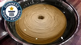 World's Longest Noodle is over 3,000m! - Guinness World Records