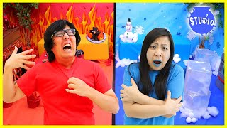 HOT and COLD CHALLENGE!! Ryan's Mommy vs Ryan's Daddy!!!