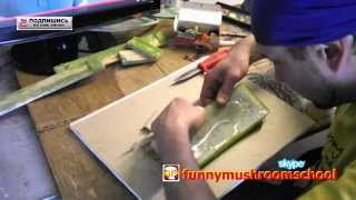 Гипсовая плитка, форма из силикона для термопистолета, Уникальная техника(Форму для плитки можно изготовитьт из альтернативного материала, как видно на видео