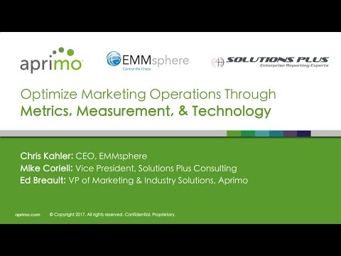 Webinar: Optimize Marketing Operations Through Metrics