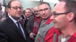 Le Président de la République François HOLLANDE chez Pneu Laurent - Édition 2017