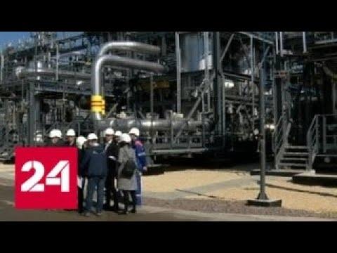 """Путин дал старт первой линии завода """"Криогаз"""" - Россия 24"""
