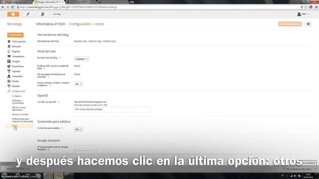 Guardar plantilla xml y contenido del blog - YouTube