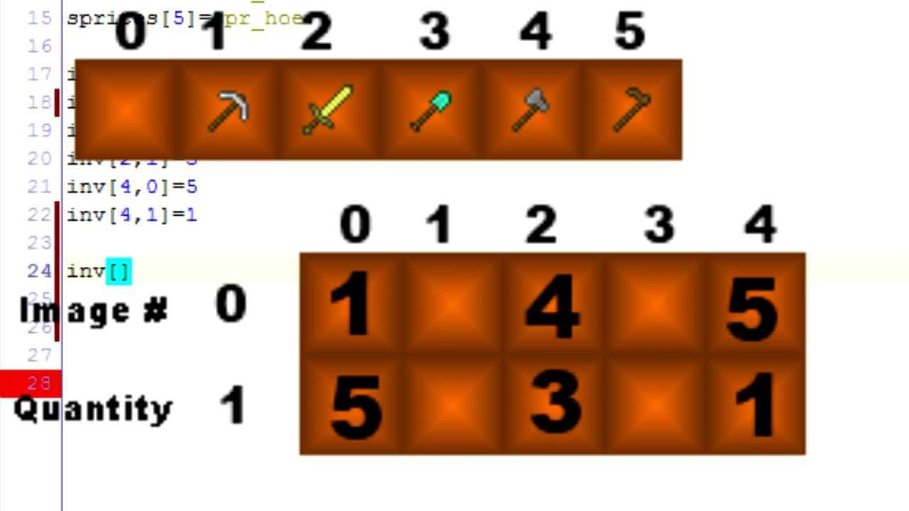 """Stackable inventory part i"""" game maker tutorial youtube."""