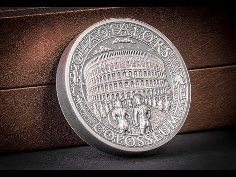 The Roman Colosseum High Relief Silver Coin