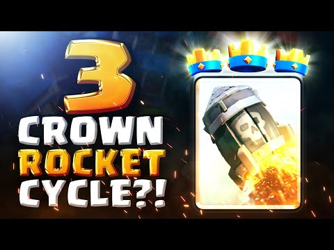 [MUST WATCH] 3 CROWNING WITH ONLY ROCKETS! | Clash Royale