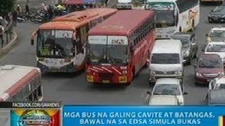BP: Mga bus na galing Cavite at Batangas, bawal na sa EDSA simula bukas