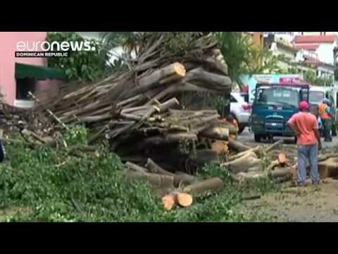 Hurricane Matthew sweeps across the Caribbean