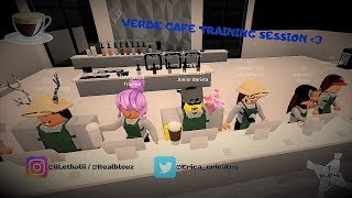Verde Cafe ☕ Training Session!   Roblox  