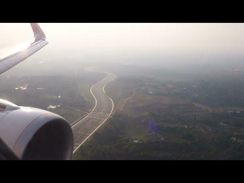 (HD)Chengdu Airlines Landing Chengdu Airport CTU ZUUU A320-214 SHARKLETS
