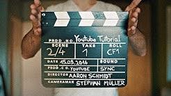 Wofür benutzt man eine Filmklappe?