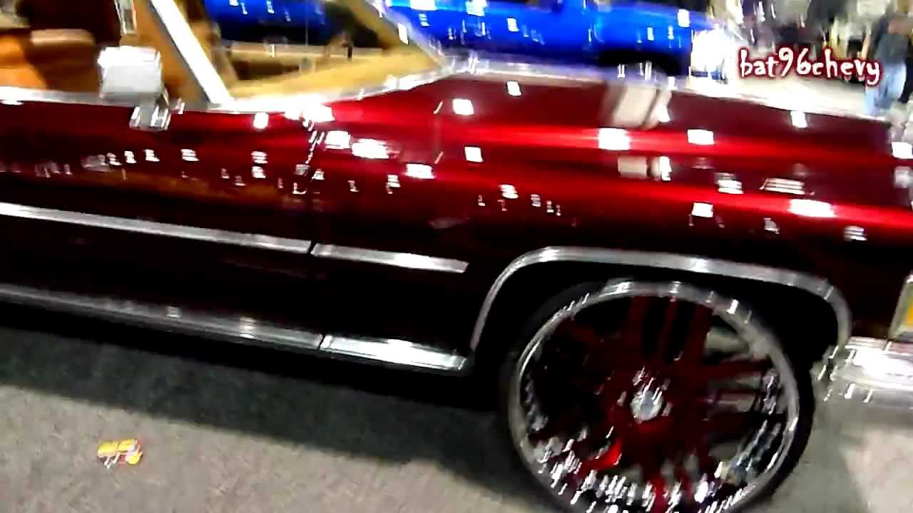 Candy Paint Red Car On Black Rims