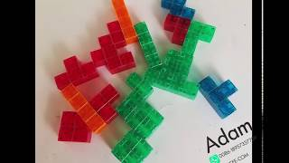 how to use Magnetic Tiles 3D Brain Teaser Puzzles to build a cube