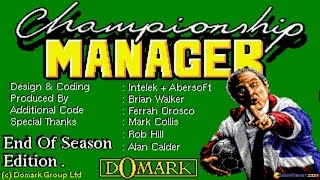 Championship Manager: End of Season Edition gameplay (PC Game, 1994)