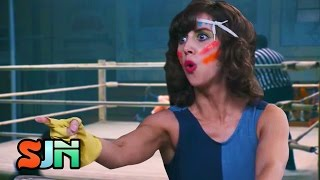 The GLOW Trailer Flies Off The Top Rope