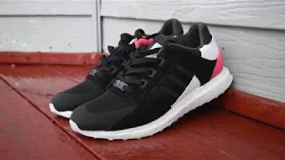 """ADIDAS EQT SUPPORT ULTRA SIZING!! + ON FEET """"Core Black/Turbo Red"""""""