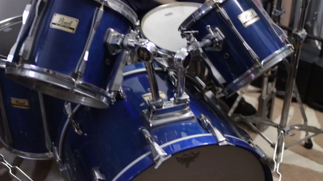 7 Piece blue Pearl Drum set for sale   YouTube 7 Piece blue Pearl Drum set for sale