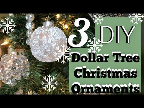 3 Cheap Easy Winter Wonderland Ornaments | Dollar Tree Christmas DIY