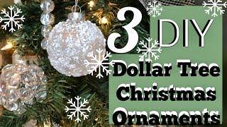 3 Cheap Easy Winter Wonderland Ornaments | Dollar Tree Christmas DIY
