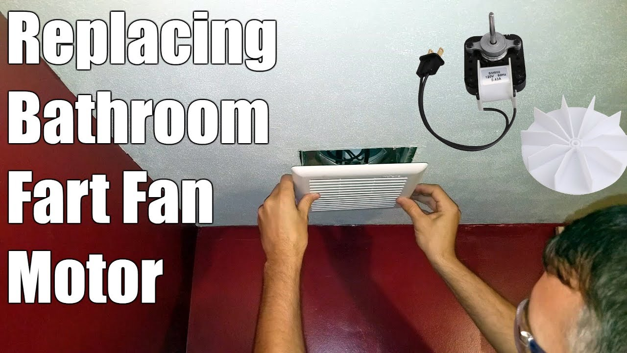 how to replace bathroom exhaust fan motor