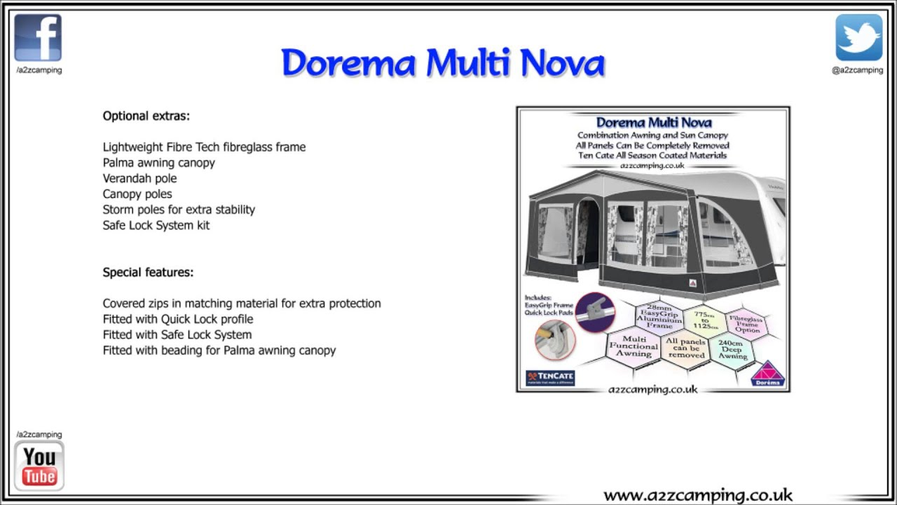 Dorema Multi Nova Multi Purpose Caravan Awning Youtube