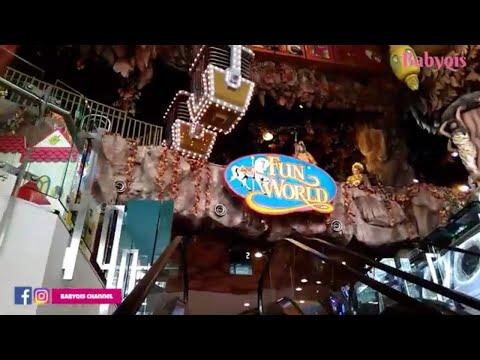 tempat-bermain-anak-di-jakarta-barat-🎪,-mall-central-park-🚋---naik-kereta-gantung-di-fun-world