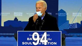 Watch Joe Biden s Mask Slide Down His Face 94 Times During Half Hour Speech