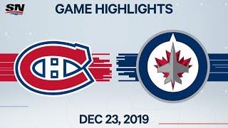 NHL Highlights   Canadiens at Jets, Dec 23, 2019