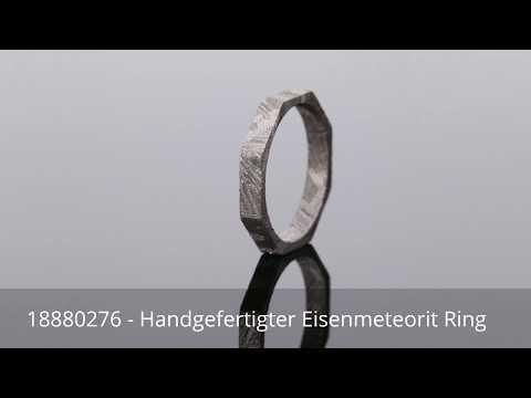 Handgefertigter Eisenmeteorit Ring - 18880276