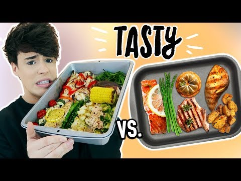 i made tasty's 4 DINNERS IN 1 PAN !!!