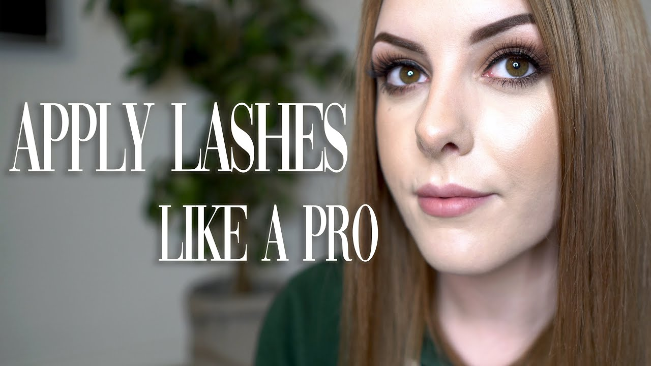 HOW TO APPLY FALSE EYELASHES FOR BEGINNERS + TIPS AND ...