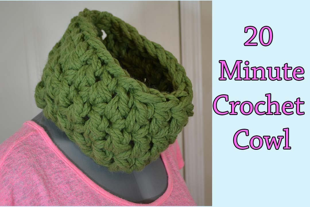 20 Min Thick and Quick Neck Warmer Crochet Tutorial Cowl - YouTube