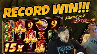 RECORD WIN!!! Da Vincis Treasure BIG WIN (RETRIGGER) - Casinodaddy HUGE WIN on Casino Game