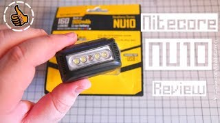 видео Налобный фонарь Nitecore NU10