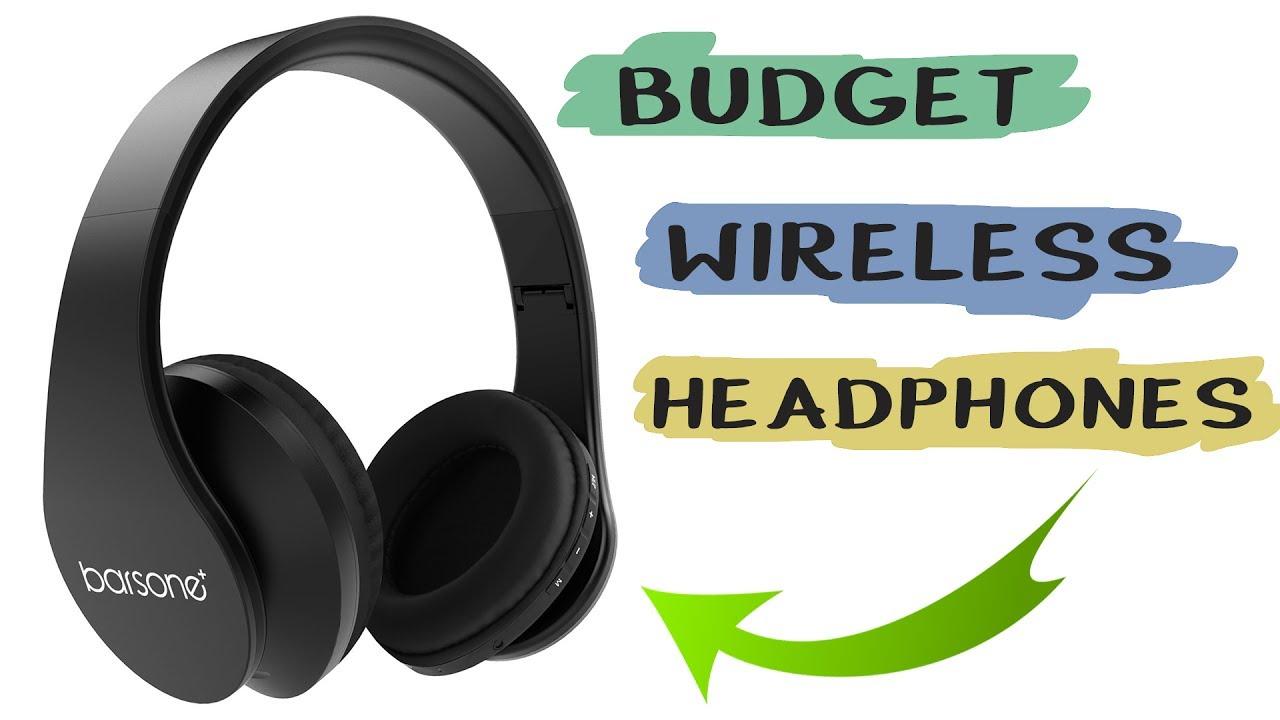 Barsone Overhead Bluetooth Headphones Best Cheap Budget Wireless Headphones Youtube